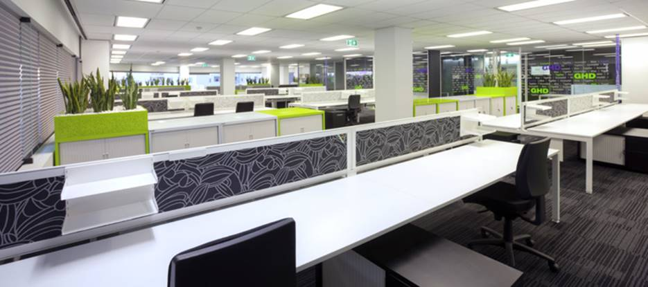 open plan office fitout